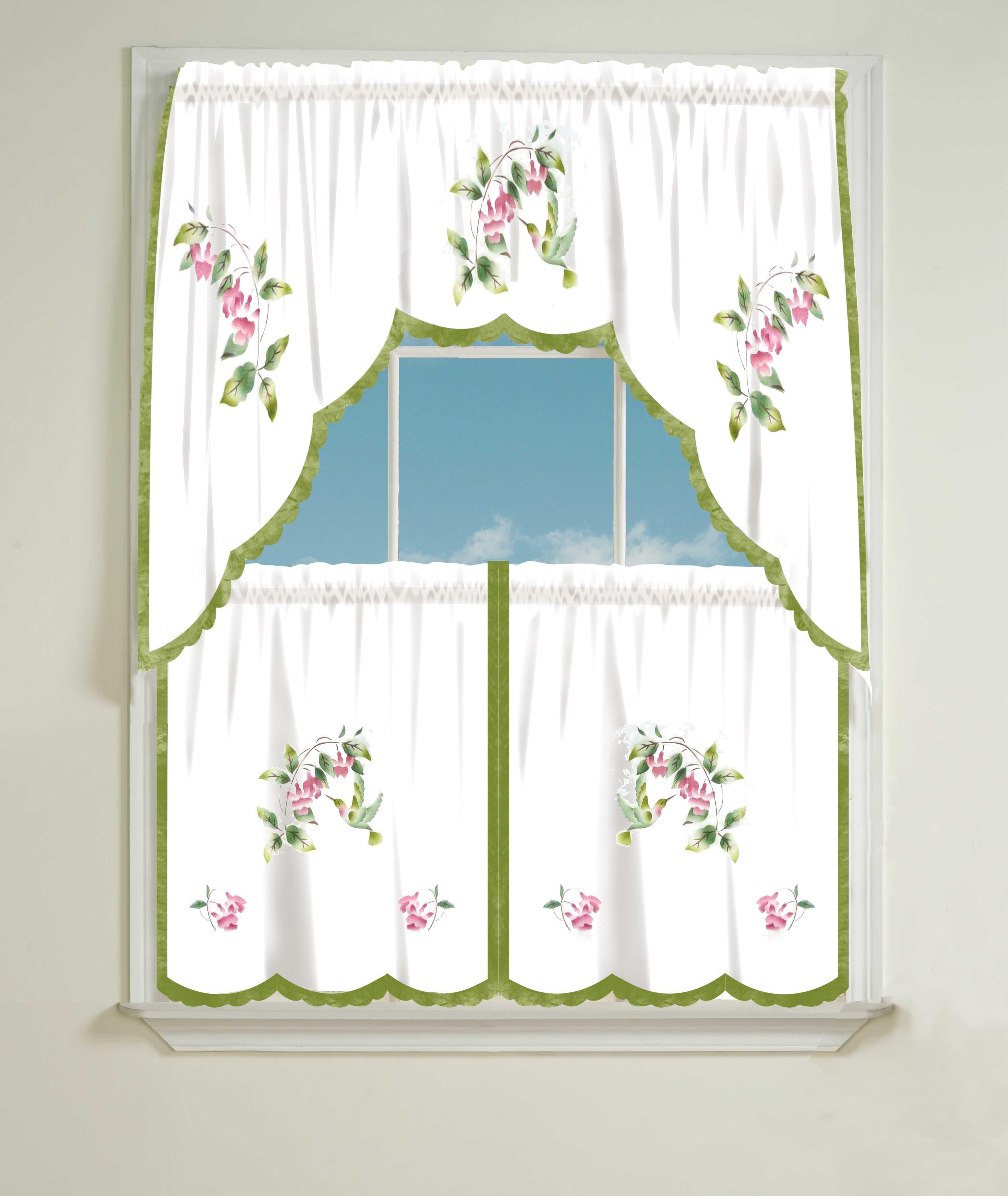 Hummingbird Kitchen Curtains: Best Linens Inc